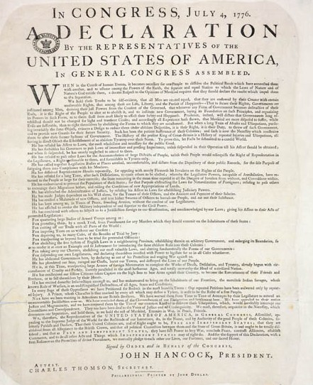 image regarding Printable Copy of the Declaration of Independence known as $8 Million Declaration of Flexibility Discovered within just Britain