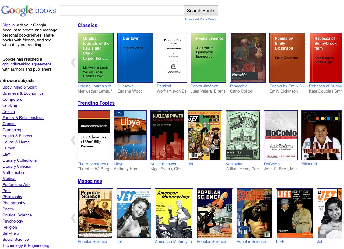 on google books