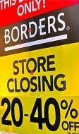 Borders closing sign