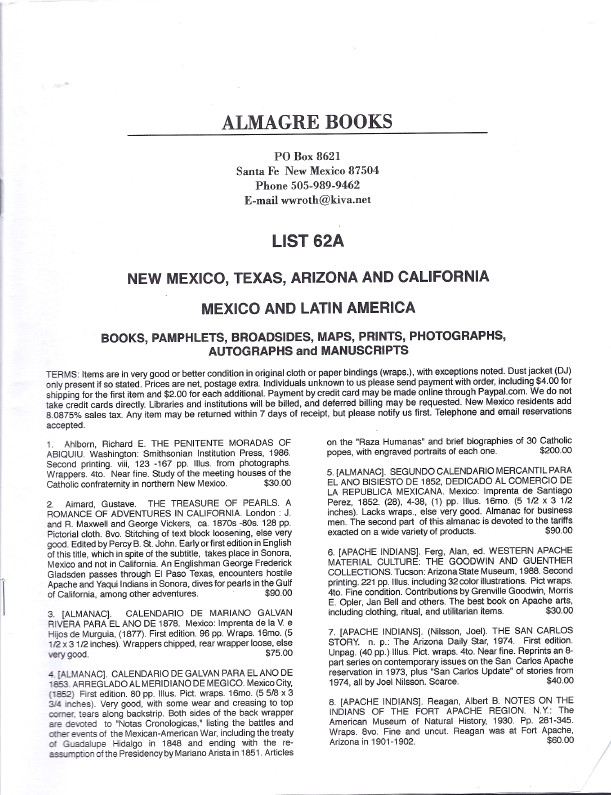 Calendario 1930.The American Southwest Mexico And Latin America From